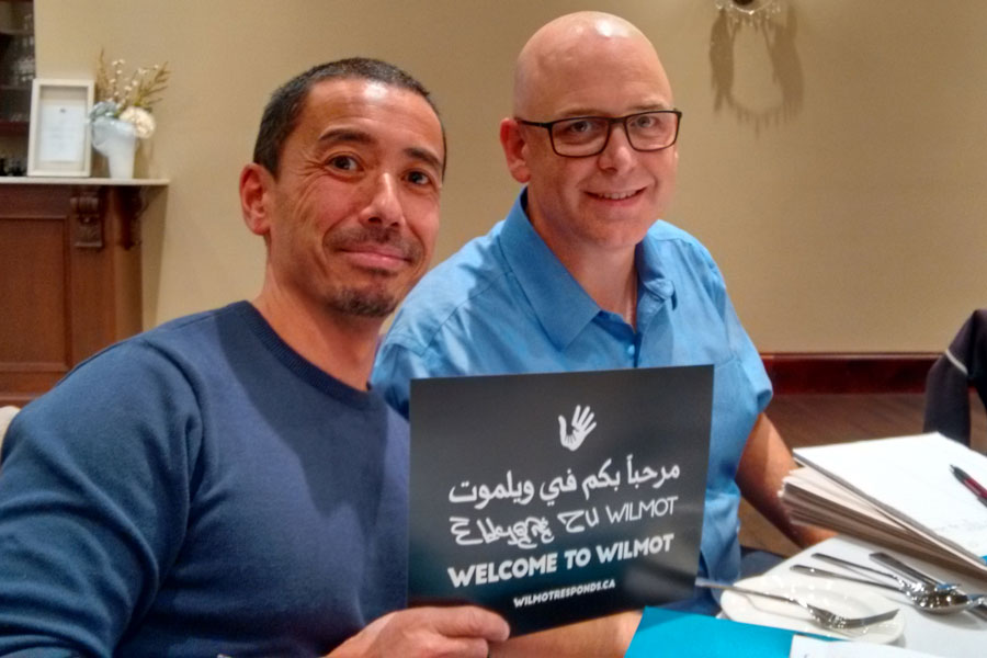 Designer Nigel Gordijk with Al Mills from Wilmot Responds