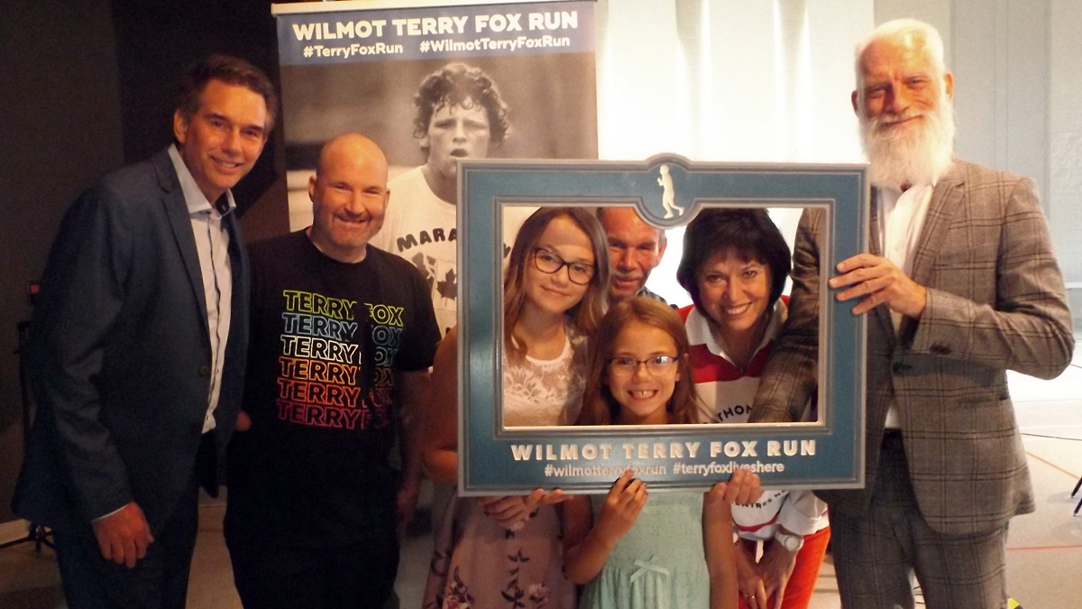 Guest speakers at the Wilmot Terry Fox Run's A Night To Inspire