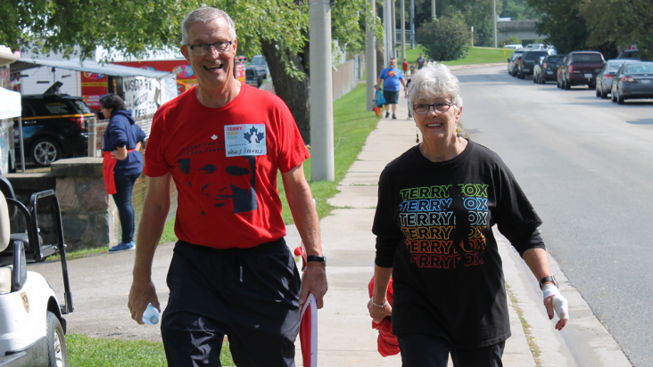 Ross Eichler and his wife, Jane, have participated in the Wilmot Terry Fox Run since 2016. Ross is the captain of The Morningside Walkers team, which has raised over $8,700 for cancer research.