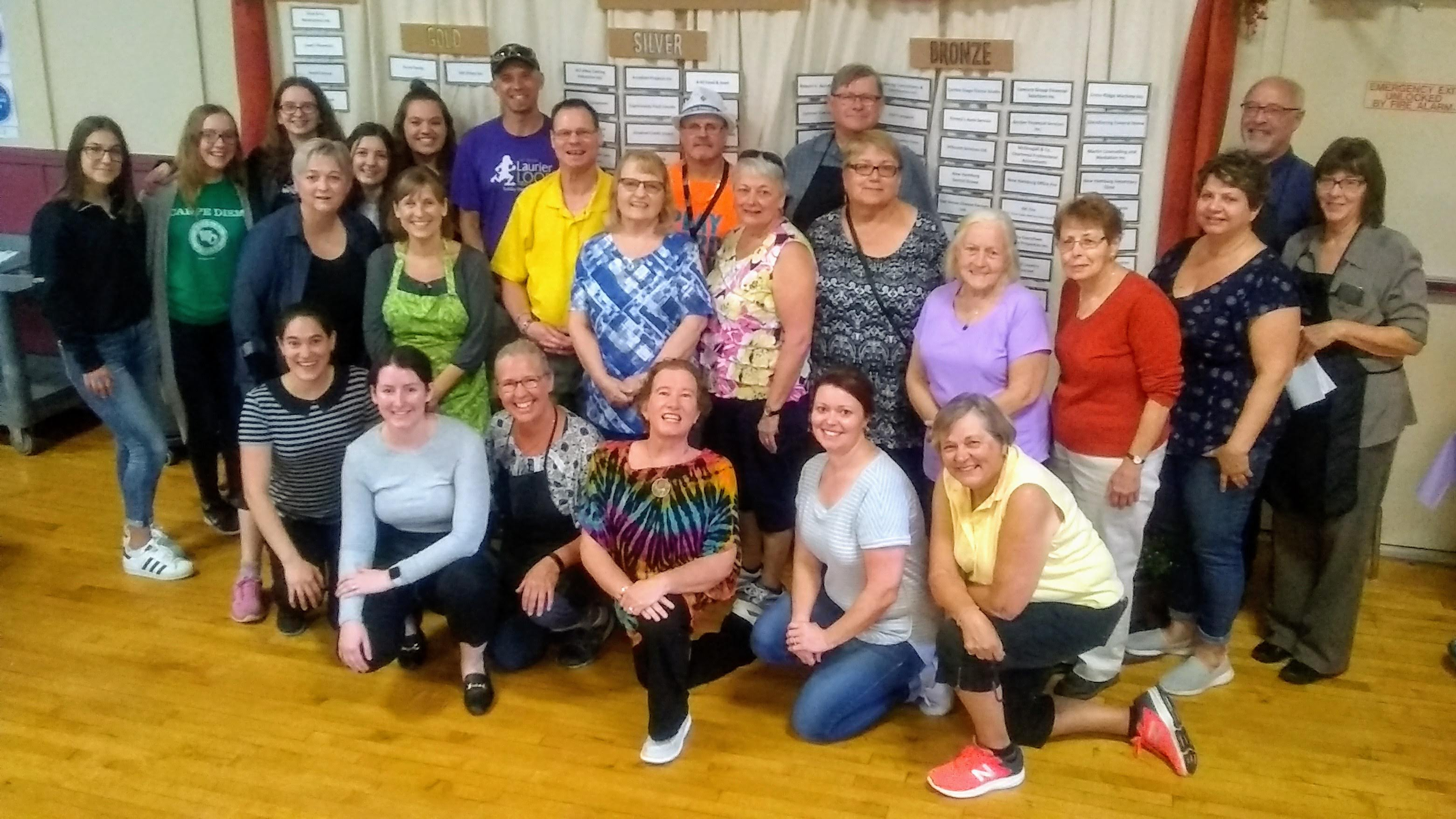 Volunteers for the annual Poor Boys Luncheon in 2019, organized by the Wilmot Family Resource Centre.